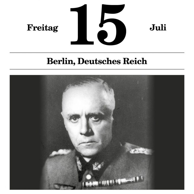 """Generaloberst Ludwig Beck (1938) Der Generalstabschef des Heeres warnt in einer Denkschrift vor einem als """"Fall Grün"""" geplanten Angriffskrieg gegen die Tschechoslowakei. Als seine Warnungen kein Gehör finden, tritt er aus Protest am 18. August 1938 von seinem Posten zurück. Gedenkstätte Deutscher Widerstand, Berlin"""
