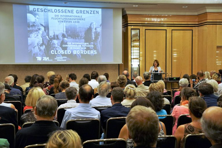 "Opening event for the exhibition ""Closed Borders,"" July 26, 2018 TU Berlin/PR/Romina Becker"