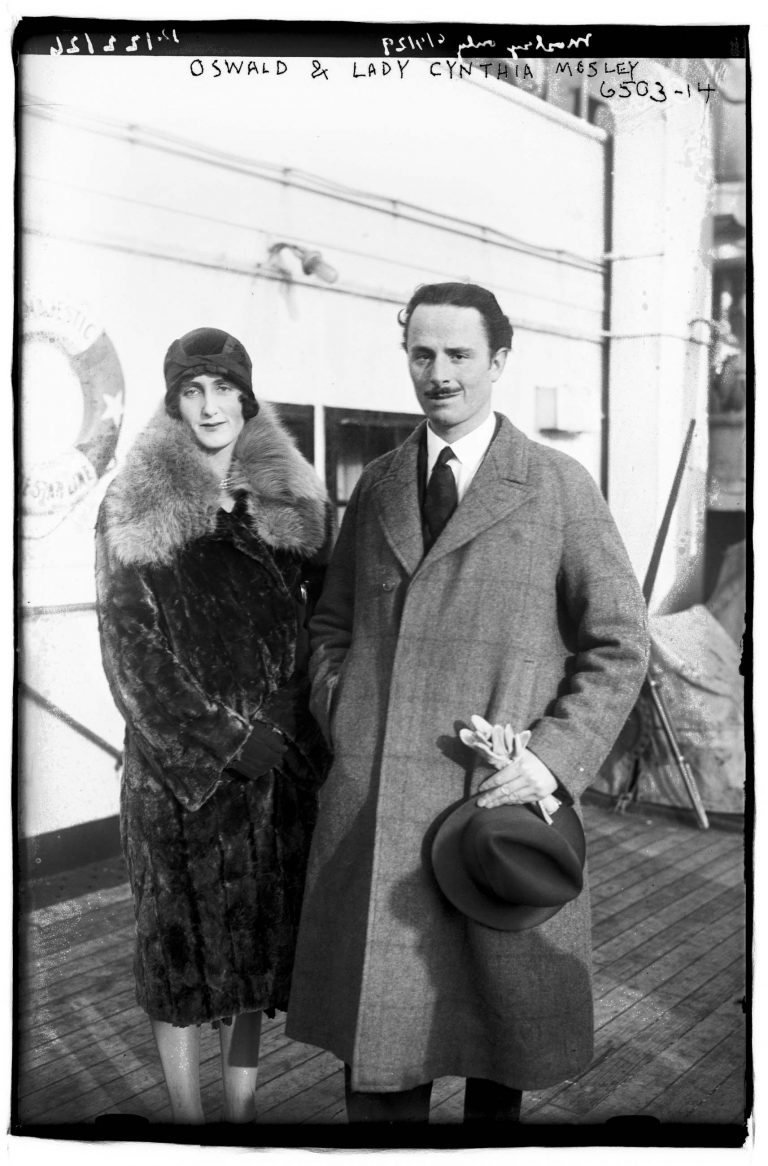 Oswald Mosley with his wife, Cynthia, undated Mosley founds theBritish Union of Fascists(BUF) in 1932. The movement is modeled on Italian fascism and later on the German version as well. In 1934 the party has more than 50,000 members. While the BUF never gains much political influence, it frequently makes headlines, for example through its violent attacks on communists and Jews. Bain News Service/ Library of Congress, Prints & Photographs Division, LC-DIG-ggbain-38928