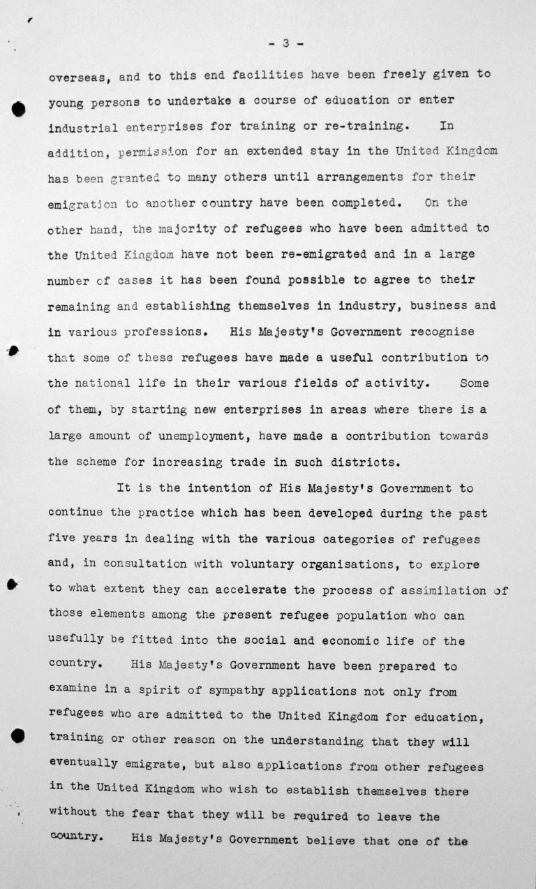 Ansprache von Lord Winterton in der öffentlichen Sitzung am 6. Juli 1938, 16 Uhr, S. 3/7 Franklin D. Roosevelt Library, Hyde Park, NY