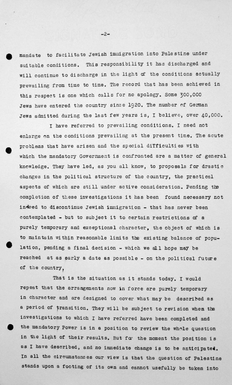 Closing address by Lord Winterton in the public session on July 15, 1938, 11am, p. 2/4 Franklin D. Roosevelt Library, Hyde Park, NY