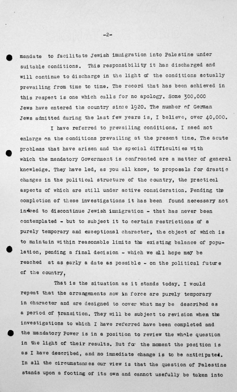 Schlussansprache von Lord Winterton in der öffentlichen Sitzung am 15. Juli 1938, 11 Uhr, S. 2/4 Franklin D. Roosevelt Library, Hyde Park, NY