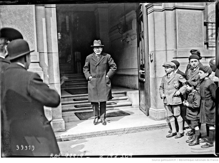 Henry Bérenger nach seinem Besuch bei Aristide Briand am 14. April 1925 Bibliothèque Nationale, Paris / bnf.gallica.fr