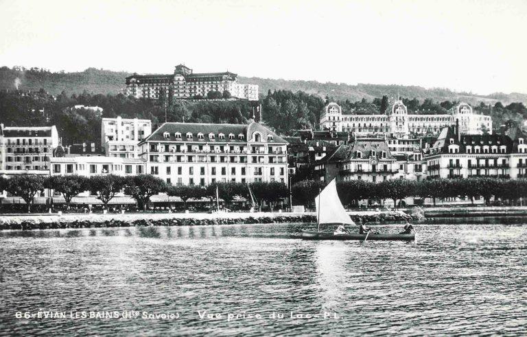 Ansichtskarte von Évian, von Finn Moe als Souvenir von der Flüchtlingskonferenz mitgenommen Arbeiderbevegelsens arkiv og bibliotek, Oslo