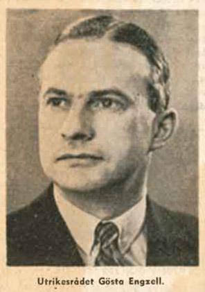 Gösta Engzell Social-Demokraten, 15. Juli 1938/ Riksarkivet, Stockholm