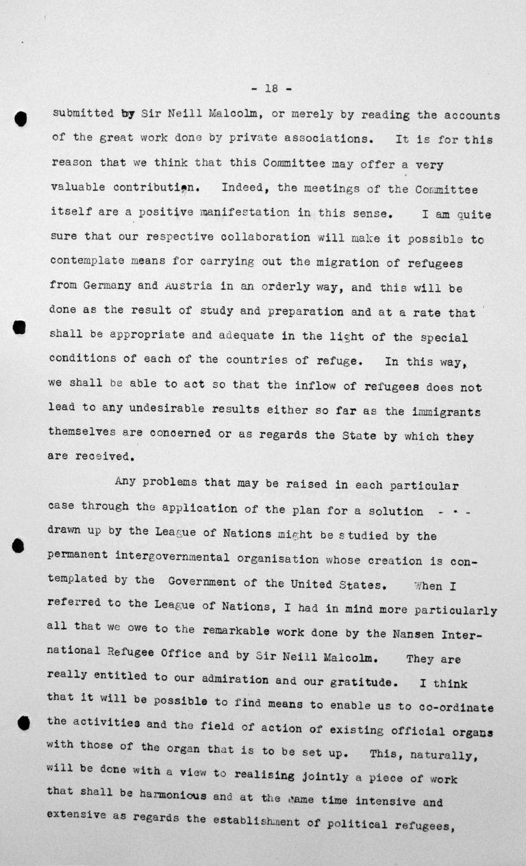 Rede von Primo Villa Michel (Mexiko) in der öffentlichen Sitzung am 9. Juli 1938, 11 Uhr, S. 2/4 Franklin D. Roosevelt Library, Hyde Park, NY