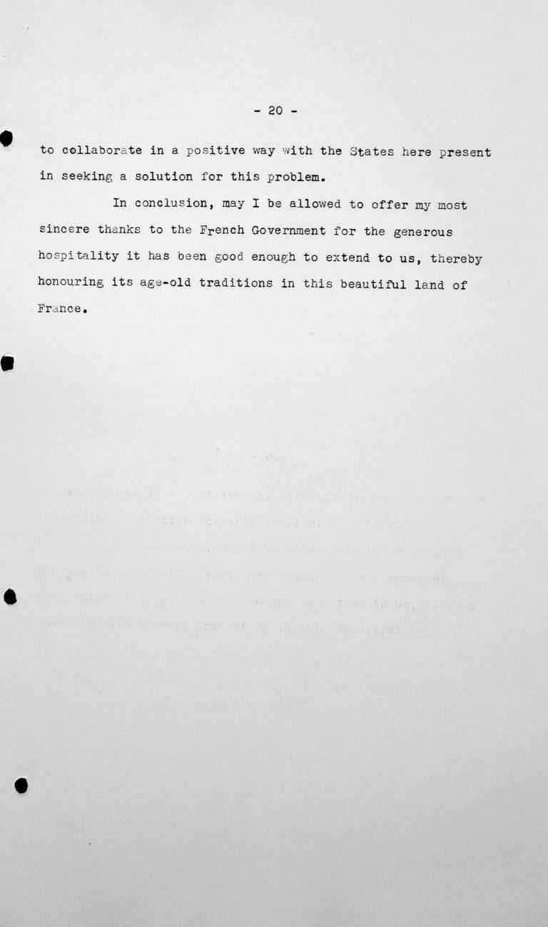 Rede von Primo Villa Michel (Mexiko) in der öffentlichen Sitzung am 9. Juli 1938, 11 Uhr, S. 4/4 Franklin D. Roosevelt Library, Hyde Park, NY