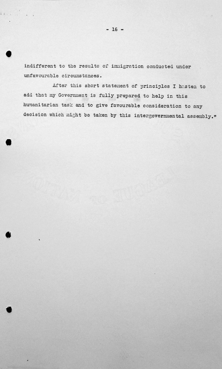 Rede von Alejandro Gastelú Concha (Ecuador) in der öffentlichen Sitzung am 9. Juli 1938, 11 Uhr, S. 2/2 Franklin D. Roosevelt Library, Hyde Park, NY