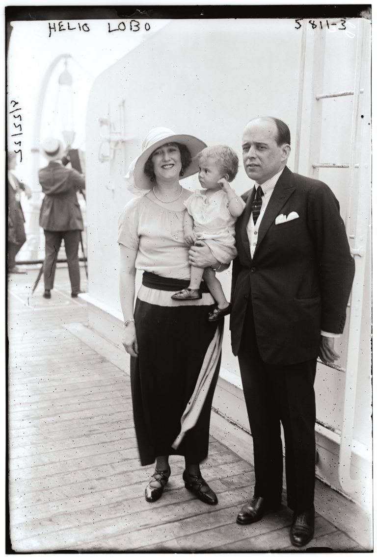 Hélio Lobo, mit Frau und Kind, undatiert Bain News Service / Library of Congress, Prints & Photographs Division, LC-DIG-ggbain-34810