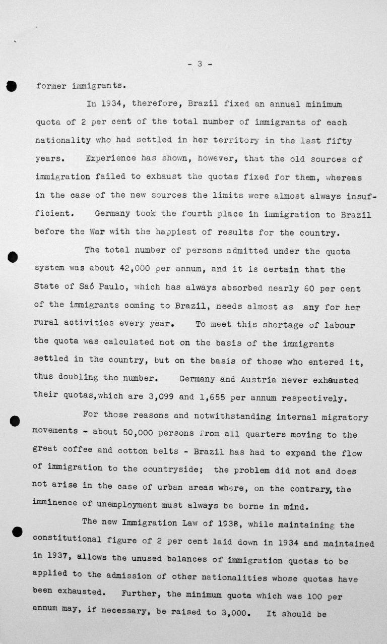 Rede von Hélio Lobo (Brasilien) in der öffentlichen Sitzung am 7. Juli 1938, 15.30 Uhr, S. 2/3 Franklin D. Roosevelt Library, Hyde Park, NY