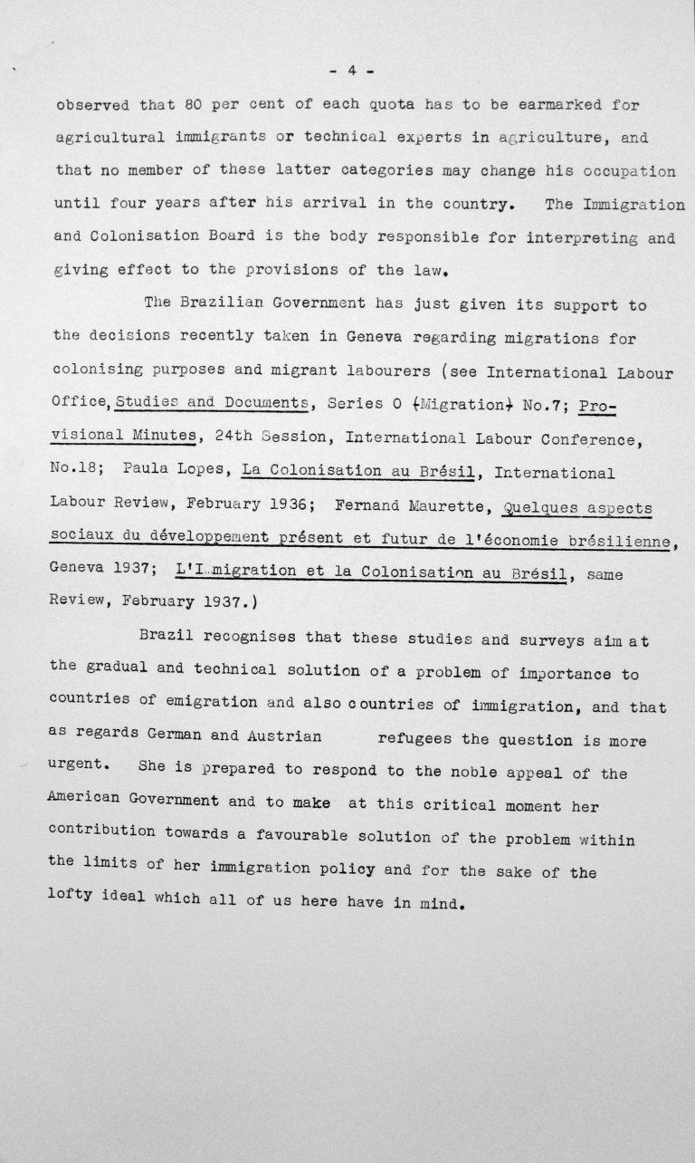Rede von Hélio Lobo (Brasilien) in der öffentlichen Sitzung am 7. Juli 1938, 15.30 Uhr, S. 3/3 Franklin D. Roosevelt Library, Hyde Park, NY