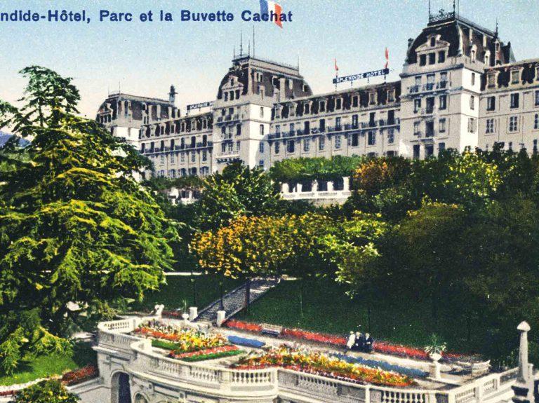 Hotel Splendide und Cachat Trinkhalle, um 1919 / Phototypie Co., Neuchatel